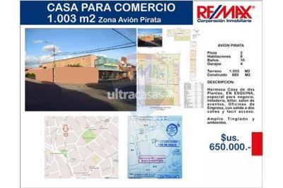 Local comercial en Venta en Santa Cruz de la Sierra Centro zona Avion Pirata 1er Anillo