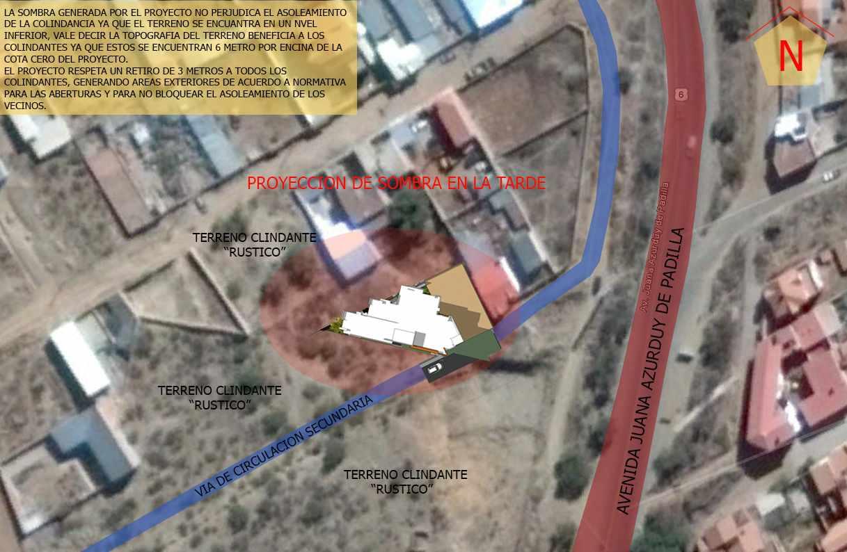 Terreno en Venta Calle sin denominación próximo: al Mirador (a una cuadra y media) y la Av. Juana Azurduy de Padilla. Foto 2