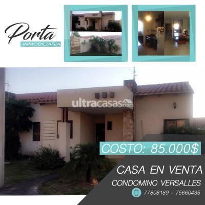 Casa en Venta en Santa Cruz de la Sierra 8vo Anillo Norte Condomino Versalle 8vo anillo Banzer
