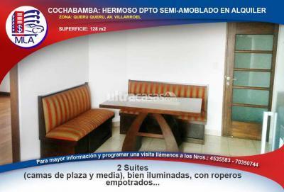 Departamento en Alquiler en Cochabamba Queru Queru ZONA: QUERU QUERU, AV. VILLARROEL