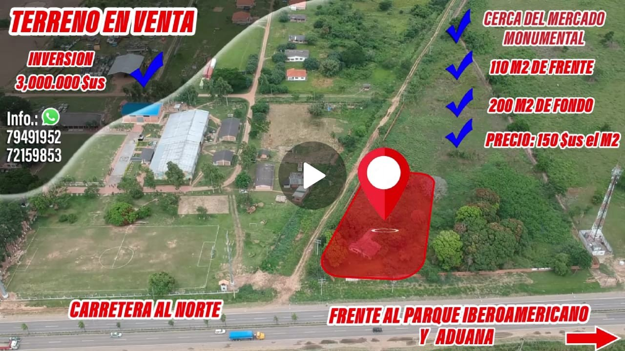 Terreno en Venta SOBRE LA CARRETERA AL NORTE, VENDO TERRENO EN ESQUINA ZONA PARQUE MONUMENTAL Foto 1