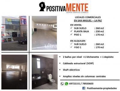 Local comercial en Venta en La Paz Calacoto SAN MIGUEL !!! Calle Claudio aliada frente a BENETTON