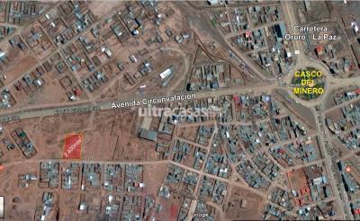 Terreno en Venta en Oruro Oruro zona norte, sobre la circumvalacion a 200metros al oeste del casco del minero ( Carretera o salida a La Paz)