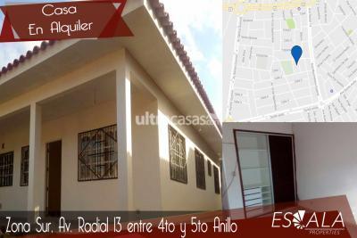 Casa en Alquiler en Santa Cruz de la Sierra 4to Anillo Sur Av. Radial 13 Entre 4to y 5to Anillo