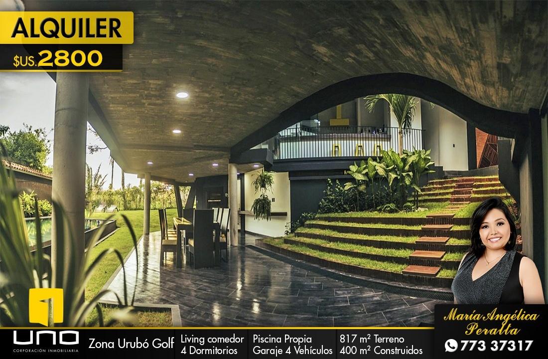 Casa en Alquiler LUJOSA CASA EN URUBÓ GOLF  Foto 1