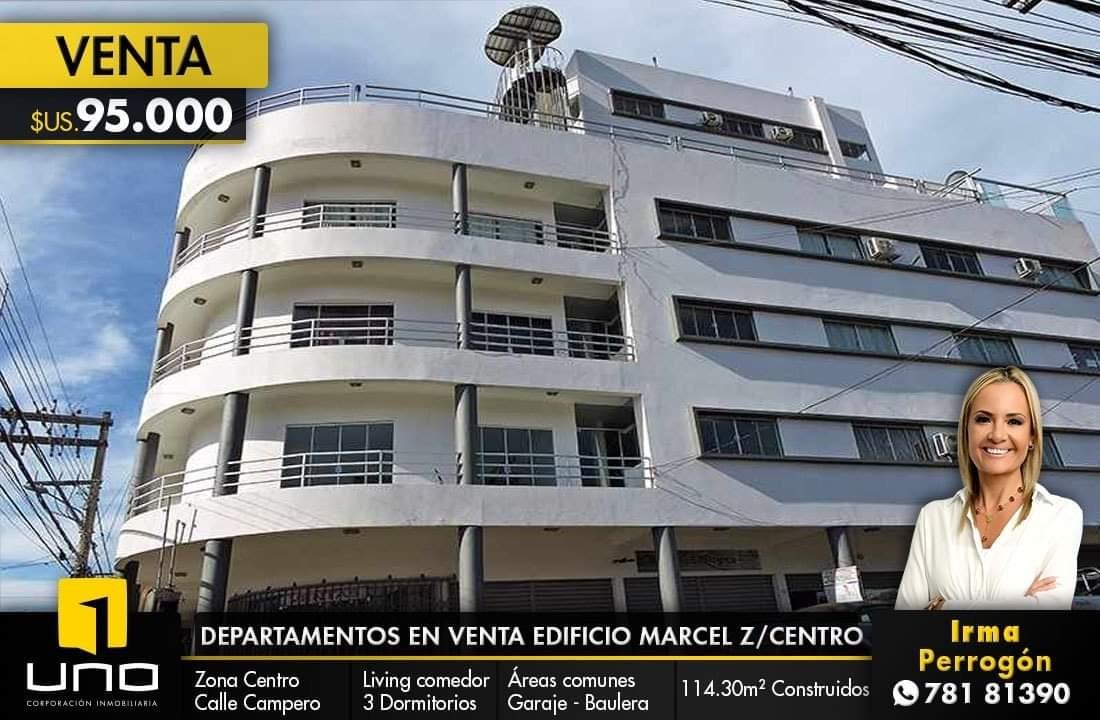 Departamento en Venta Departamentos en venta Edificio Marcel Z/Centro calle Arenales esq.Campero  Foto 1