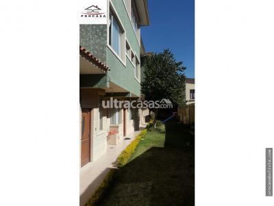 Departamento en Venta en Cochabamba Cala Cala Chalet en condominio zona Cala- Cala