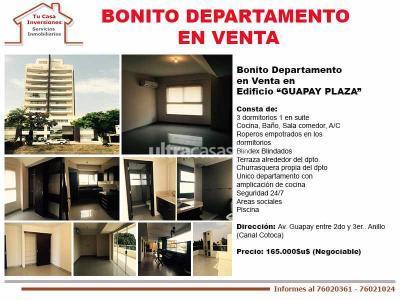 Departamento en Venta en Santa Cruz de la Sierra 2do Anillo Este Bonito Departamento en Venta en Edificio