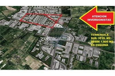 Terreno en Venta en Warnes Parque Industrial Latinoamericano TERRENO EN PARQUE INDUSTRIAL LATINOAMERICANO