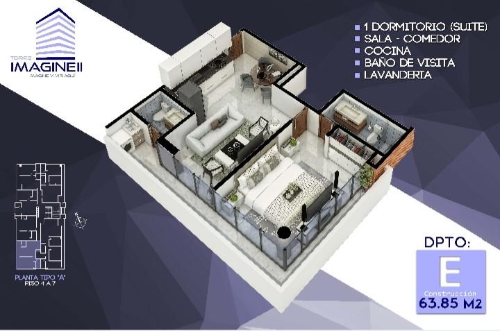 Departamento en Venta Torre Imagine II 2do anillo - Cerca del Casco Viejo. Foto 1