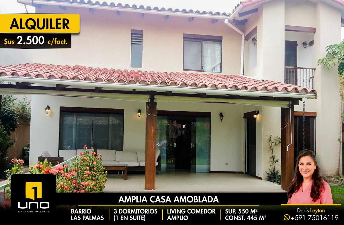 Casa en Alquiler BARRIO LAS PALMAS ALQUILO CASA COMPLETAMENTE AMOBLADA Foto 1