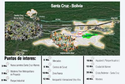 Terreno en Venta en Warnes Parque Industrial Latinoamericano Santa Cruz, Satelite Norte