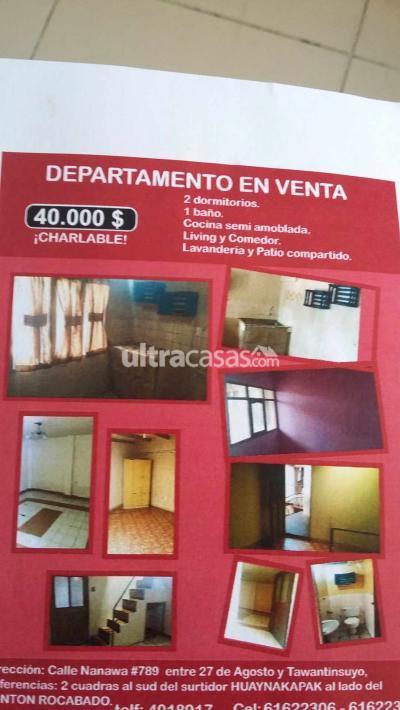Departamento en Venta en Cochabamba Centro Calle nanawa #789 final Ladislao Cabrera