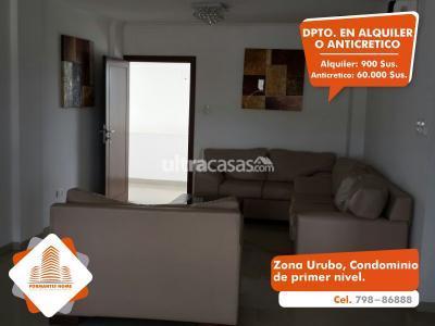 Departamento en Alquiler en Santa Cruz de la Sierra Urubó [ALQUILER O ANTICRETICO] Hermoso Departamento Duplex