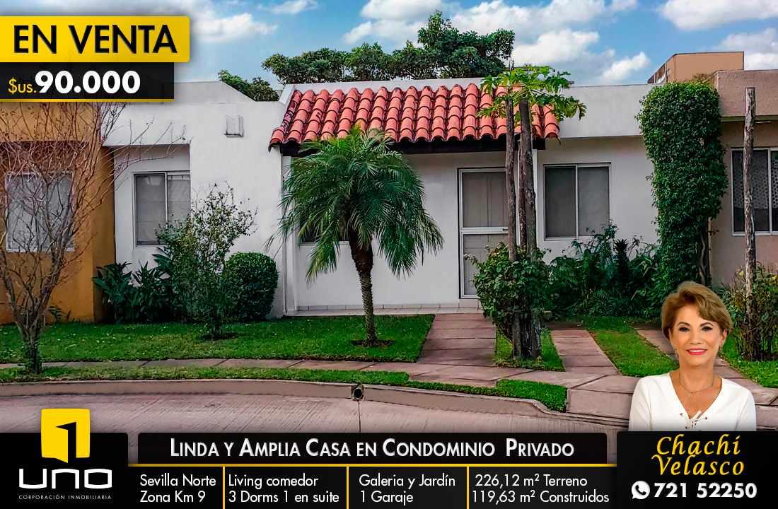 Casa en Venta LINDA Y AMPLIA CASA DE 1 PLANTA EN CONDOMINIO PRIVADO ZONA NORTE KM 9 Foto 1