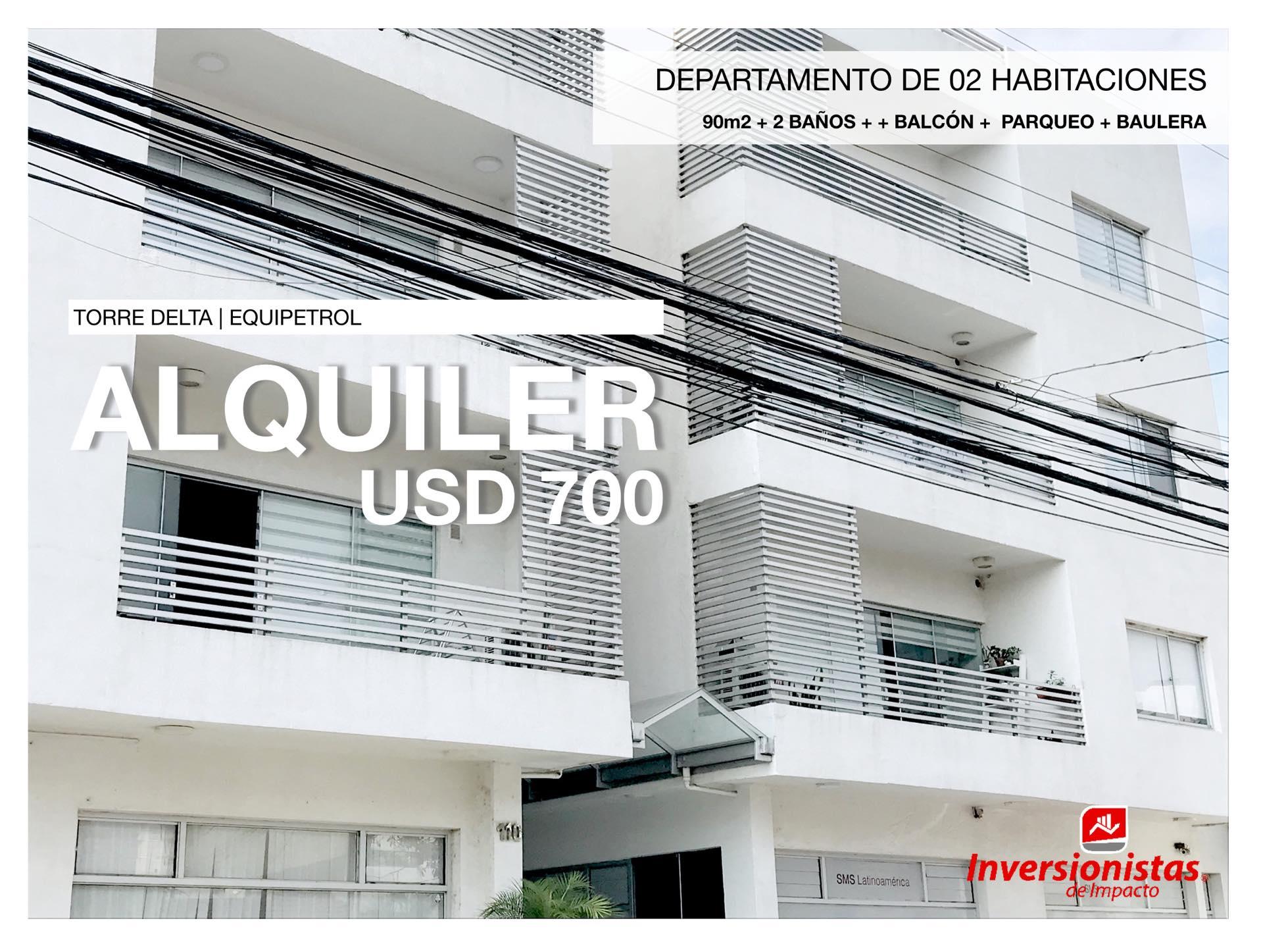 Departamento en Alquiler Condominio TORRE DELTA, EQUIPETROL, ubicación estratégica. Foto 1