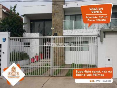 Casa en Venta en Santa Cruz de la Sierra 4to Anillo Oeste Barrio Las Palmas