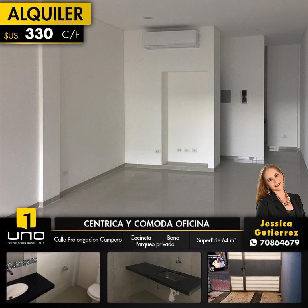 Oficina en Alquiler Calle Prolongación a media cuadra de la Av Uruguay y pocas cuadras del Palacio de Justicia Foto 1