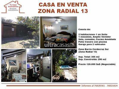 Casa en Venta en Santa Cruz de la Sierra 5to Anillo Sur Casa en Venta Zona Radial 13