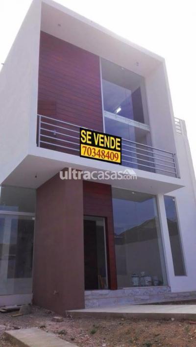 Casa en Venta en Cochabamba Temporal CHALET EN VENTA A ESTRENAR -  ZONA  NORTE  FINAL PANDO