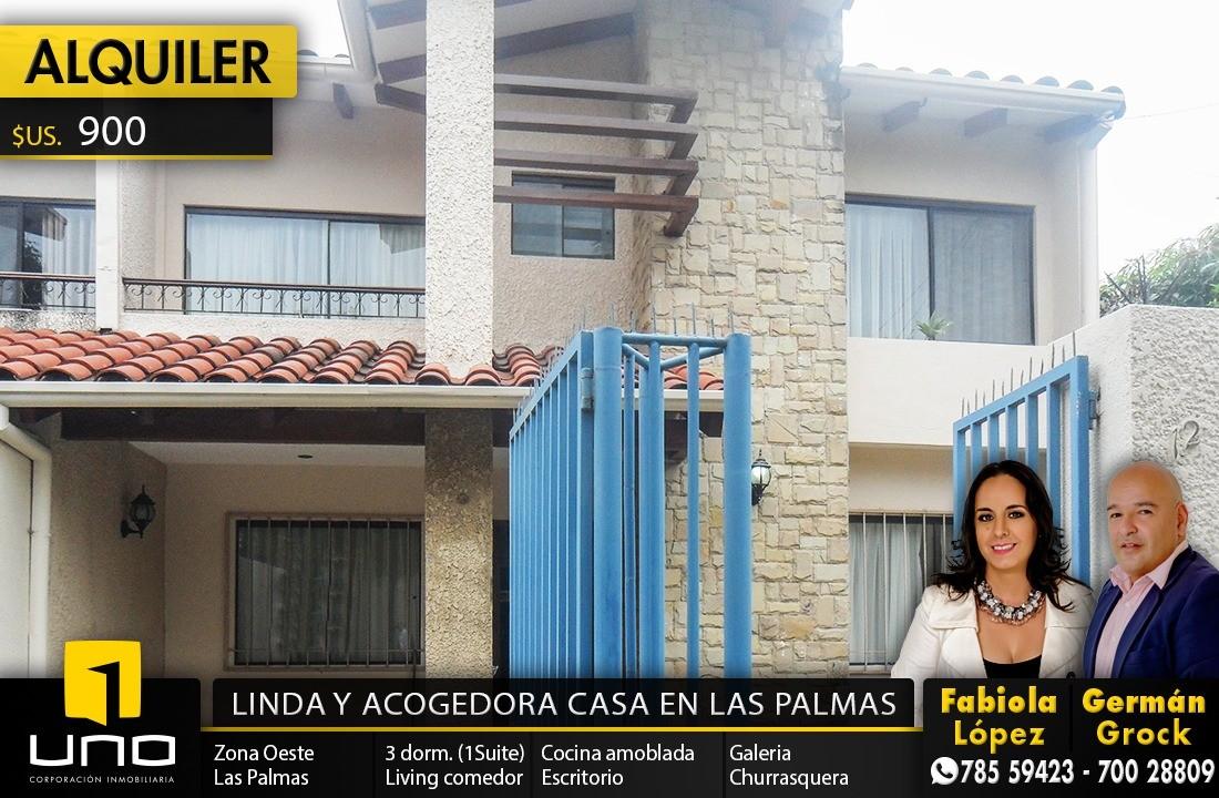 Casa en Alquiler ZONA OESTE, BARRIO LAS PALMAS Foto 1