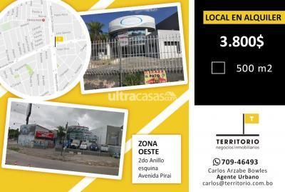 Local comercial en Alquiler en Santa Cruz de la Sierra 2do Anillo Oeste 2do anillo y Av. Piraí