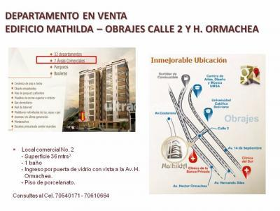 Local comercial en Venta en La Paz Obrajes Obrajes Calle 2 y Hector Ormachea (Frente a Hospital de la Caja Bancaria)