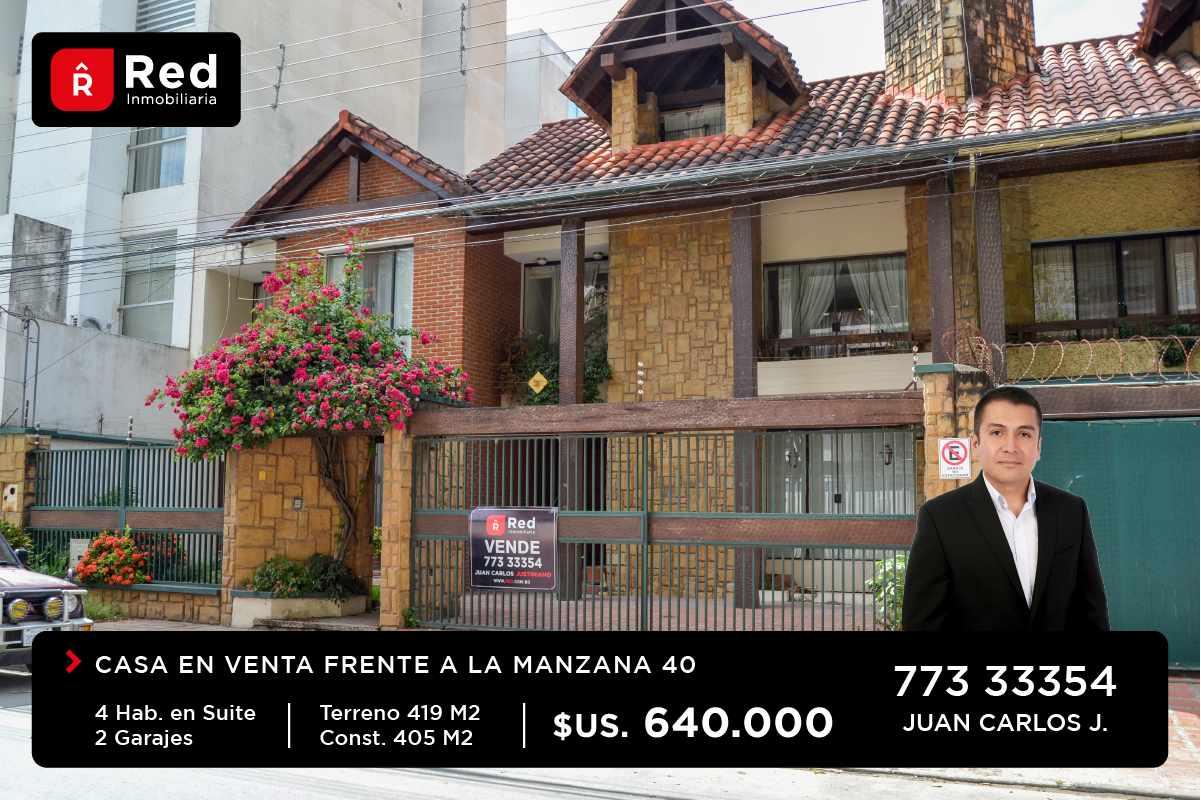 Casa en Venta Equipetrol Norte, Frente Manzano 40 Foto 1