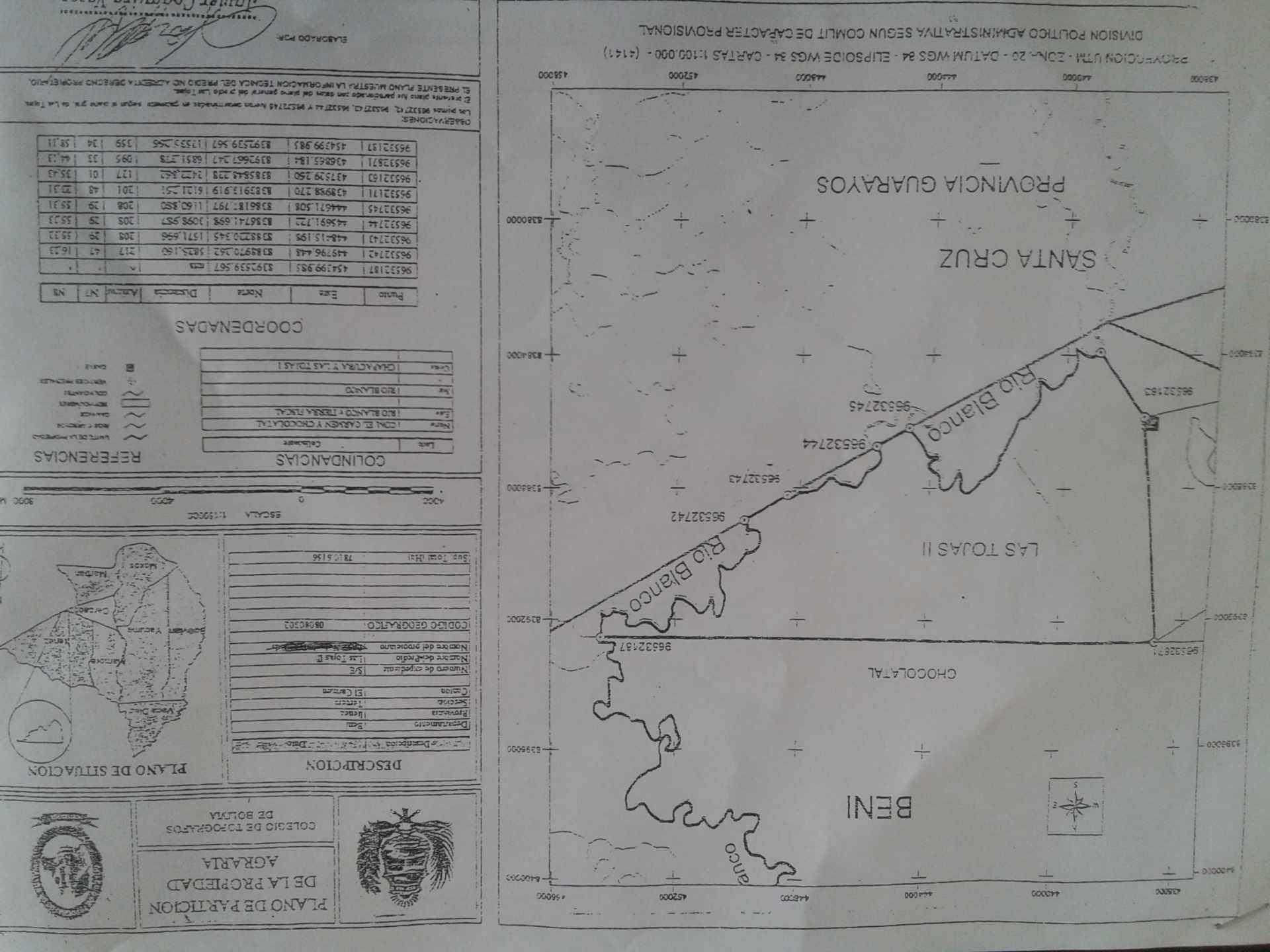 Terreno en Venta DE  SAN PABLO DEL BENI,  HACIA CARMEN DEL ITENEZ, 40 KILOMETROS,  CARRETERA RIPIADA Foto 1
