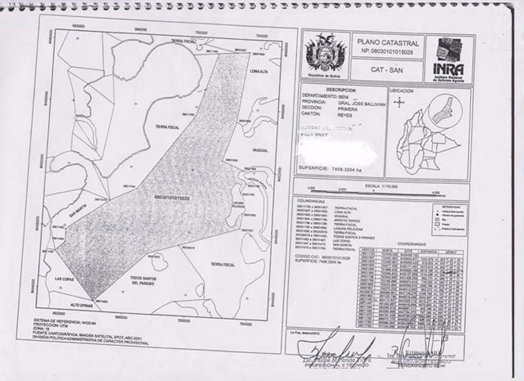 Terreno en Venta Beni, Provincia: Gral. José Ballivian, Sección: Primera, Cantón: Reyes (Reyes) Beni Foto 1