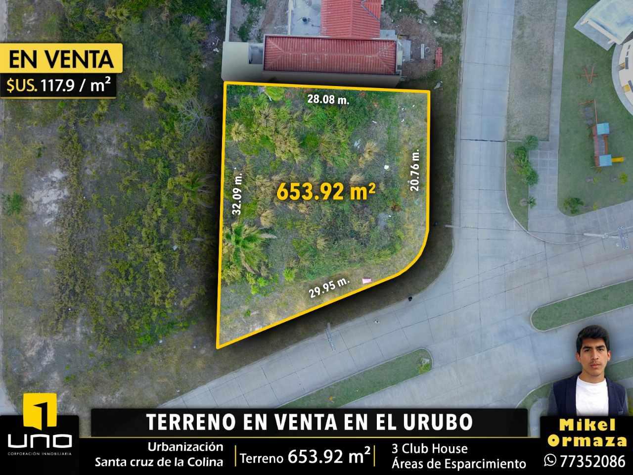 Terreno en Venta URUBO, CONDOMINIO SANTA CRUZ DE LA COLINA Foto 1