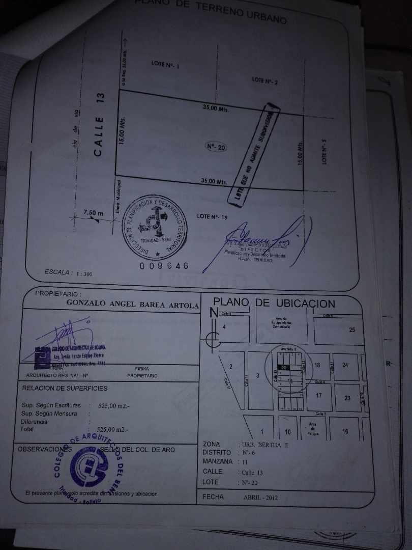 Terreno en Venta URB. BERTHA II DISTRITO Nº 6 MANZANO 11 CALLE 13 LOTE Nº 20 Foto 1