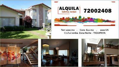 Casa en Alquiler en Cochabamba Tiquipaya Tiquipaya, Cochabamba
