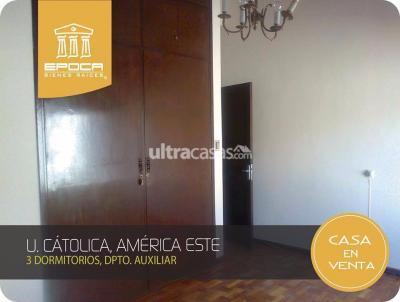 Casa en Venta en Cochabamba Muyurina Bonita casa para vivienda cerca de la U. Catolica, 170.000 $us.