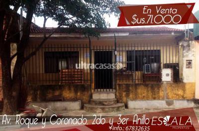 Casa en Venta en Santa Cruz de la Sierra 2do Anillo Oeste  Av. Roque y Coronado entre 2do y 3er Anillo, Barrio Santa Rosita.
