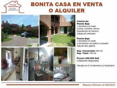 Casa en Venta en Santa Cruz de la Sierra 5to Anillo Norte Bonita Casa en Venta o Alquiler en Condominio Cerrado La Hacienda II