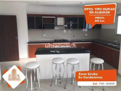 Departamento en Alquiler en Santa Cruz de la Sierra Urubó Zona Urubo, en Condominio.