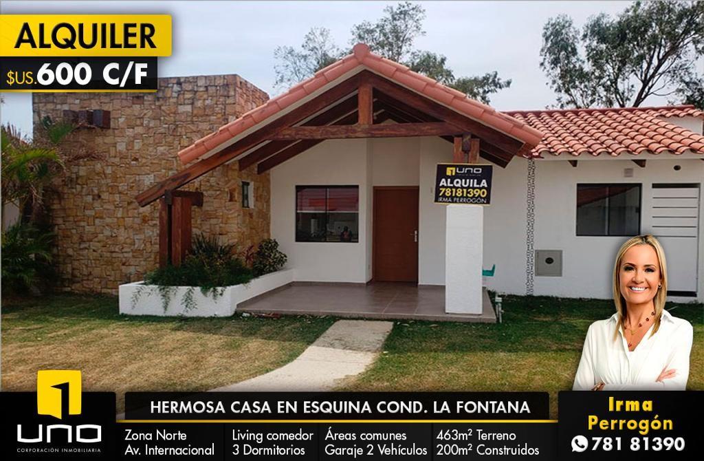 Casa en Alquiler HERMOSA CASA EN ALQUILER CONDOMINIO LA FONTANA FAMILY CLUB  Foto 1