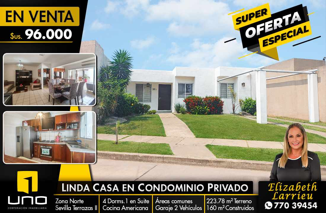 Casa en Venta LINDA CASA EN CONDOMINIO PRIVADO ZONA NORTE KM 10 Foto 1