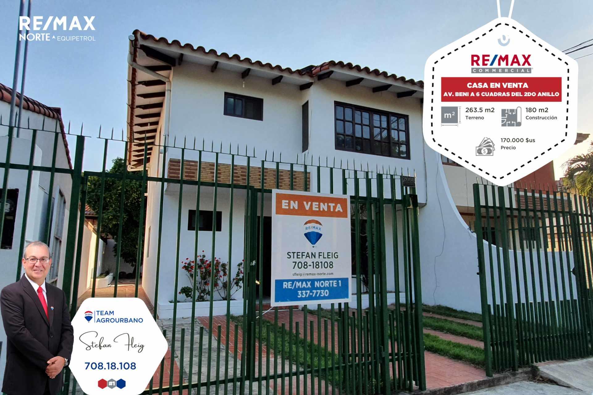 Casa en Venta Casa Avenida Beni entre 2do y 3er anillo, calle Guapomo Foto 1