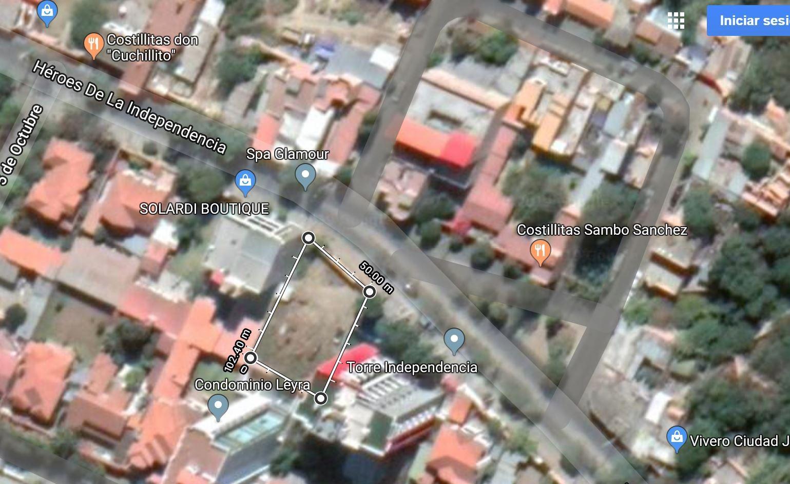 Terreno en Venta Av. Heroes de la Independencia #24, Zona de Tabladita, Barrio SENAC Foto 1