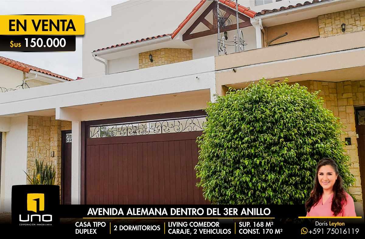 Casa en Venta $us 150.000 VENDO CASA AV ALEMANA DENTRO 3ER ANILLO TIPO DUPLEX Foto 1