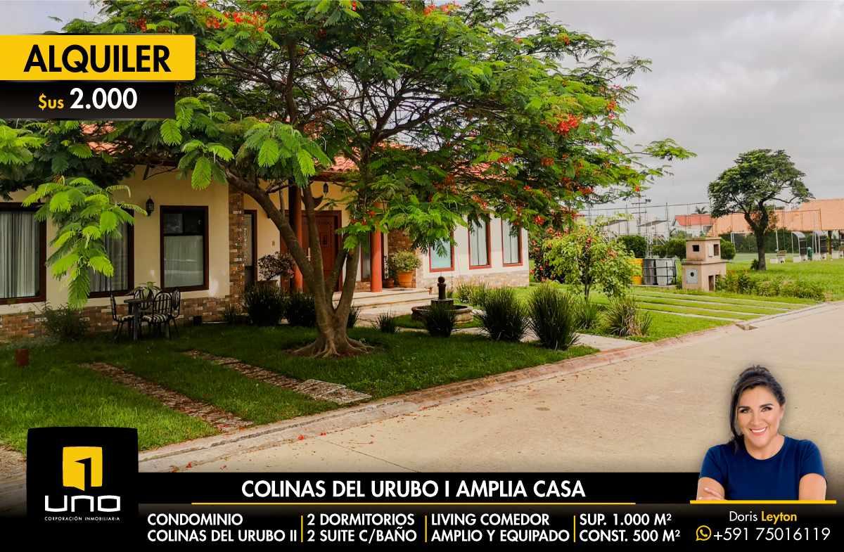Casa en Alquiler COLINAS DEL URUBO I ALQUILO AMPLIA CASA DE UNA PLANTA Foto 1