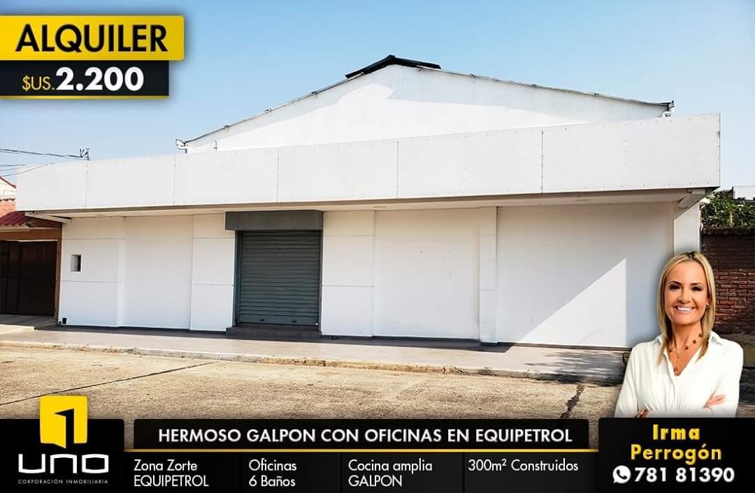 Galpón en Alquiler GALPON CON OFICINAS EN EQUIPETROL Foto 1