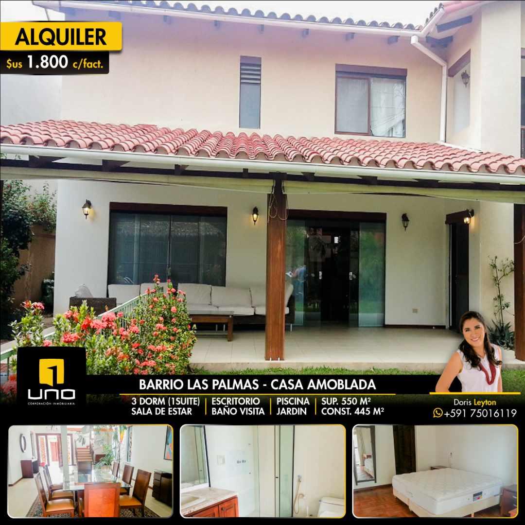 Casa en Alquiler Barrio Las Palmas alquilo amplia casa  con muebles y piscina Foto 1