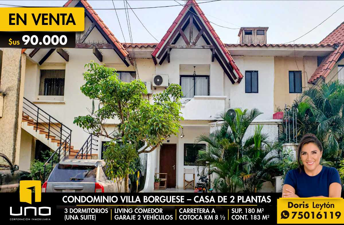 Casa en Venta Condominio Villa Borghese - Carretera a Cotoca Foto 1