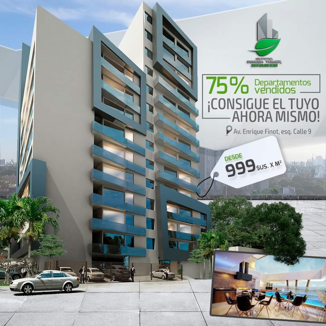 Departamento en Venta ? Equipetrol, frente Hotel Los Tajibos (centro empresarial) Foto 1