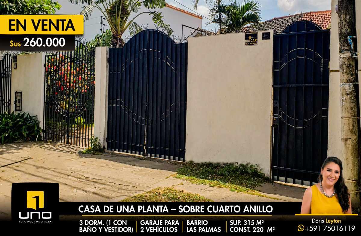 Casa en Venta $us 260.000 VENDO CASA BARRIO LAS PALMAS Foto 1