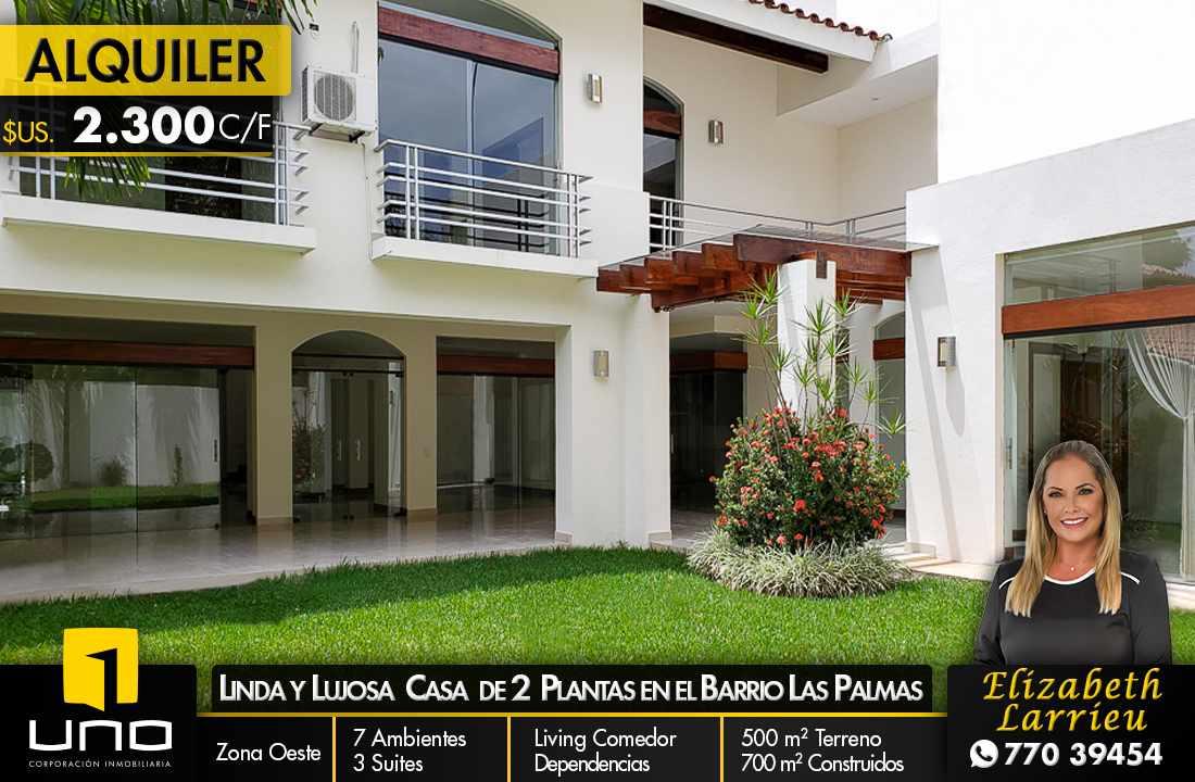 Casa en Alquiler LUJOSA CASA DE 2 PLANTAS IDEAL PARA EMPRESA O VIVIENDA EN EL BARRIO LAS PALMAS Foto 1