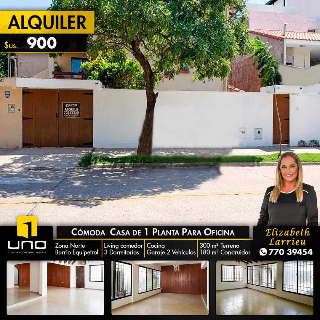 Casa en Alquiler CASA DE 1 PLANTA SOLO PARA OFICINA EN EL BARRIO EQUIPETROL Foto 1